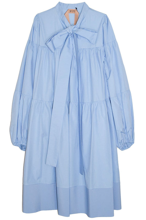 Long Sleeve Layer Dress in Azzurro