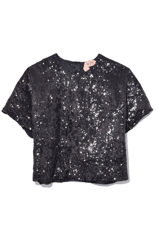 Sequin Shirt in Black