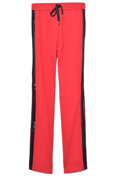 Side Stripe Drawstring Pant in Red