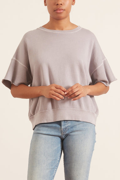 Brooke Short Sleeve Sweatshirt in French Purple