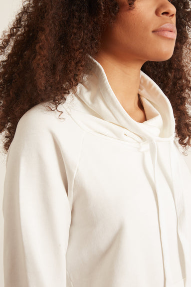 Grace Pullover Funnel Neck in White