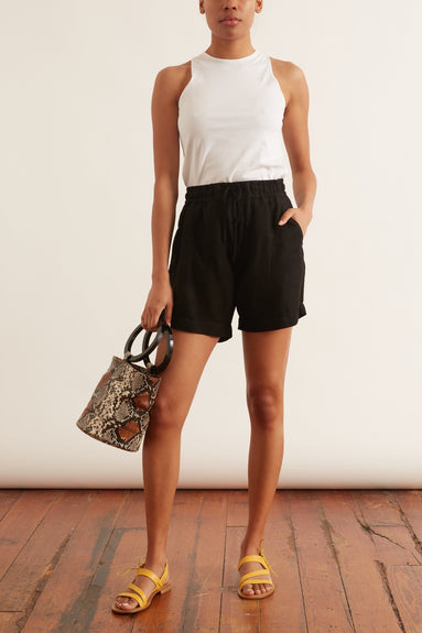 Niki Elastic Waist Short in Black