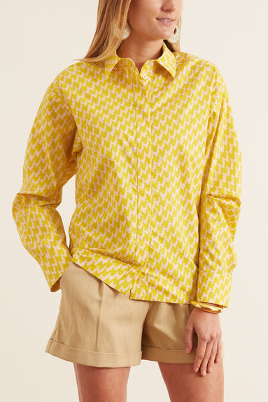 Button Down Shirt in Canary Yellow