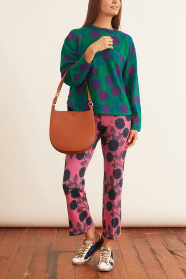 Printed Long Sleeve Shirt in Emerald