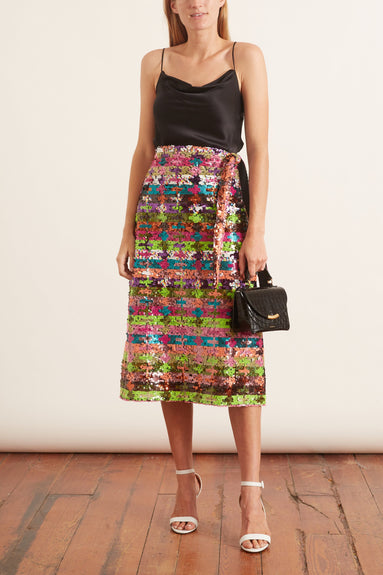 Tie Waist Skirt in Multicolor