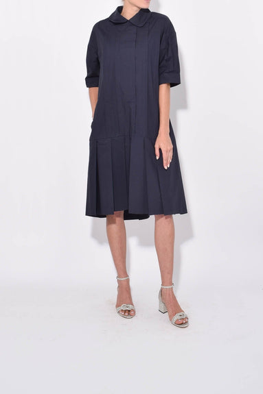 Cotton Dress in Marine Blue