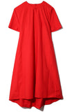Half Placket Dress in True Red