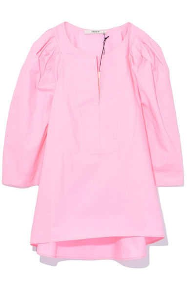 Puff Sleeve Shirt in Pink