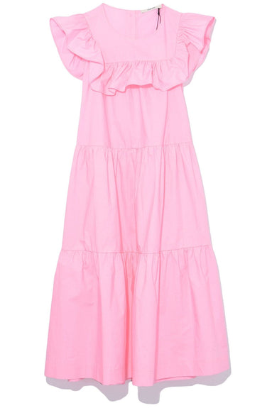 Ruffle Collar Sleeveless Dress in Pink