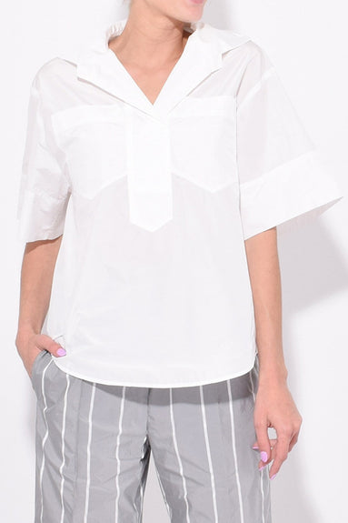 Short Sleeve Top in White