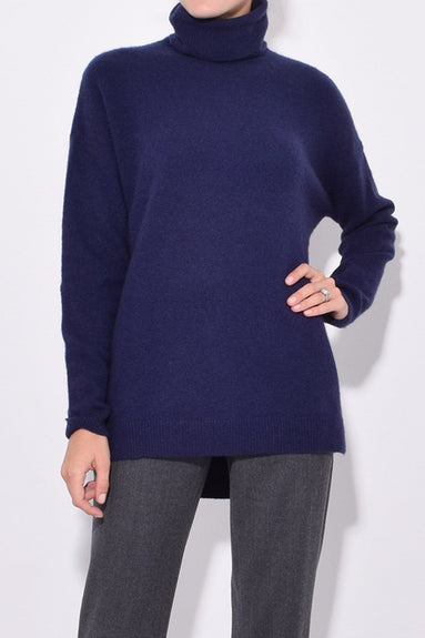 Turtleneck Sweater in Marine Blue