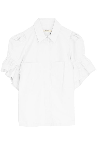 Half Placket Shirt in White