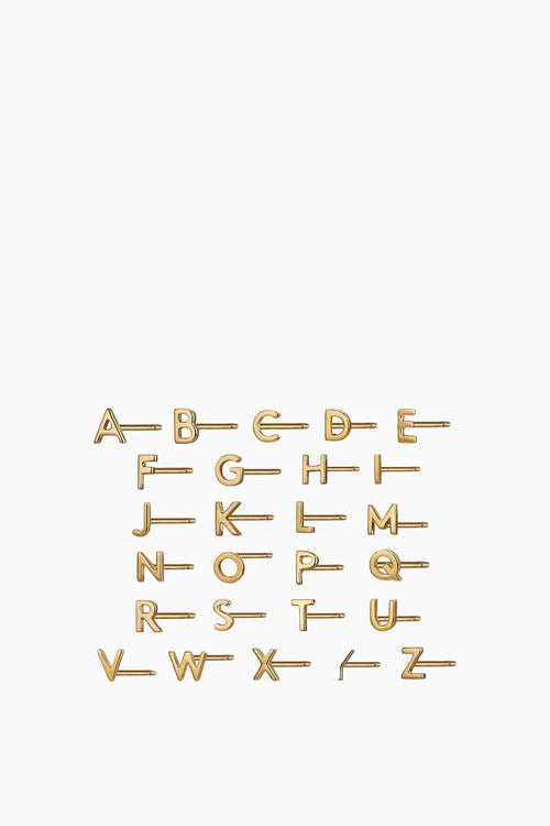 Alphabet Studs in Gold