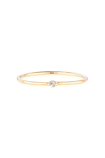 Diamond Bamboo Ring in Gold