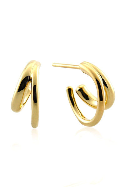 Duo Hoop in Gold Vermeil