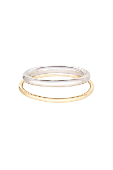 Duo Ring in Sterling Silver/Gold