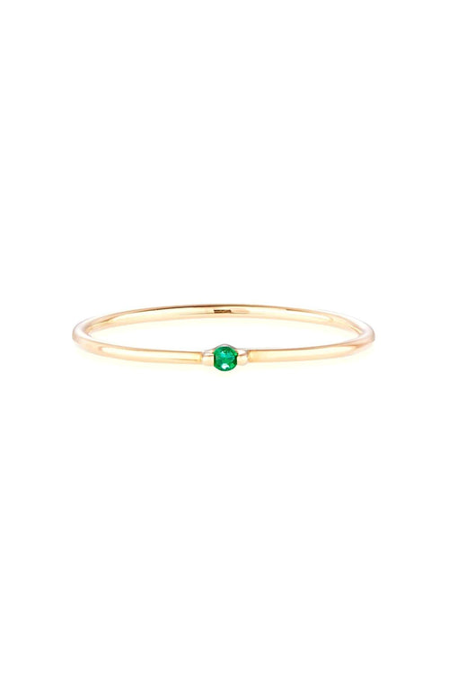 Emerald Bamboo Ring in Gold