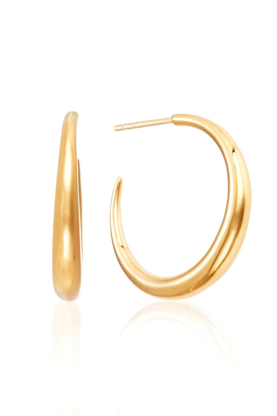 Graduated Hoops in Gold Vermeil