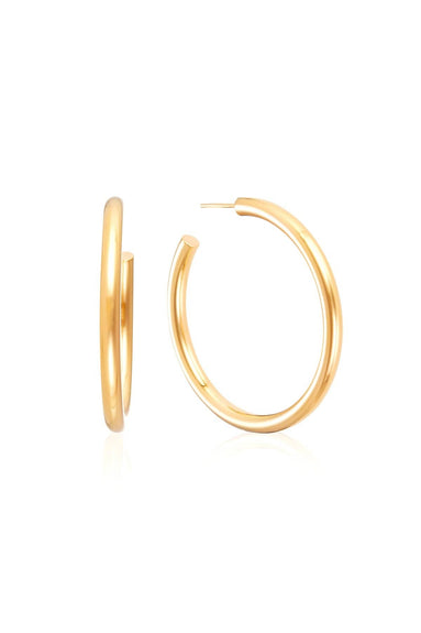 Large Chunky Hoops in Gold