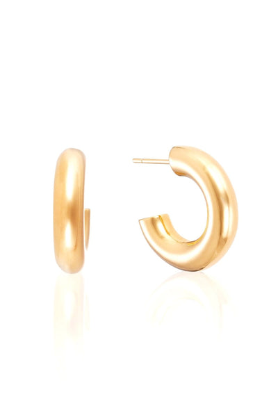 Mini Chunky Hoops in Gold