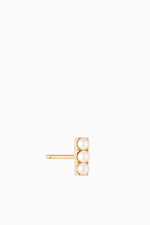 Pearl Bar Stud in Gold