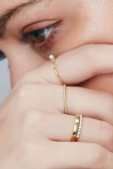Twist Ring in Gold
