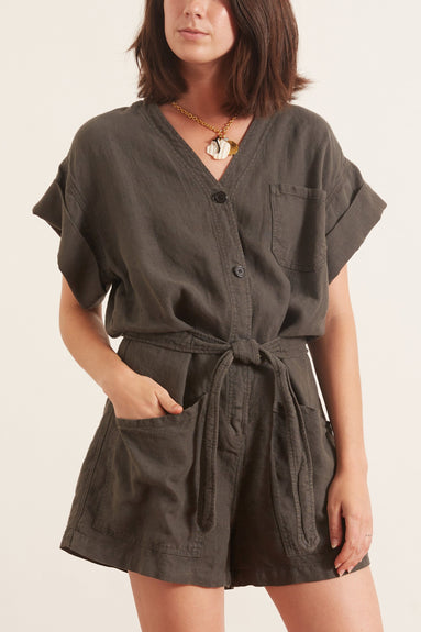 Dona Playsuit in Cool Black