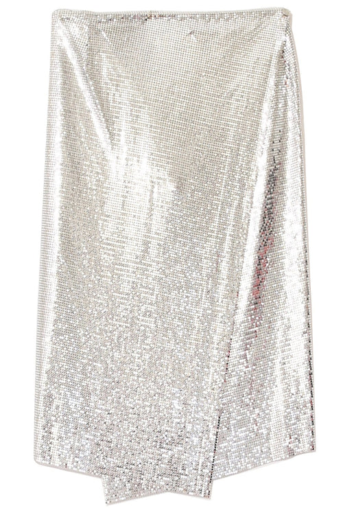 Mesh Icon Skirt in Silver