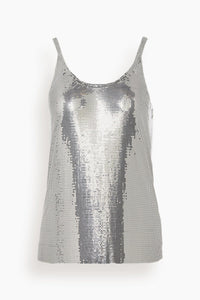 Mesh Icon Tank in Silver