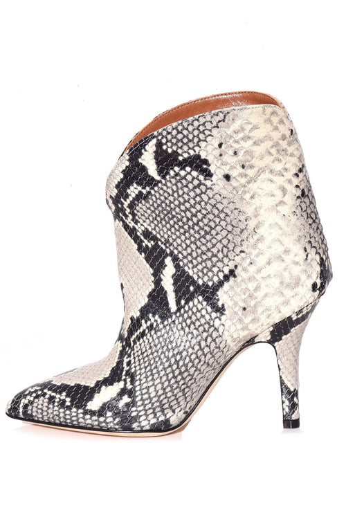 Python Print Rounded Ankle Boot in Natural