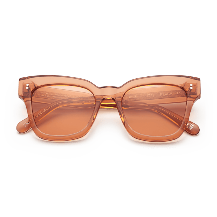 #005 Clear Sunglasses in Peach