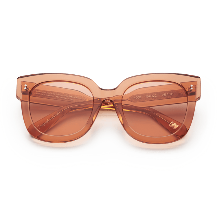 #008 Clear Sunglasses in Peach