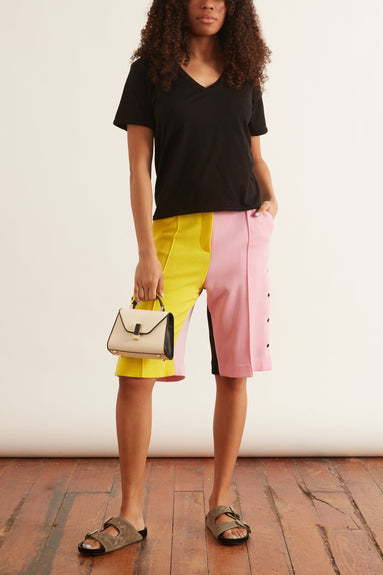 Contrast Gurli Shorts in Color Block