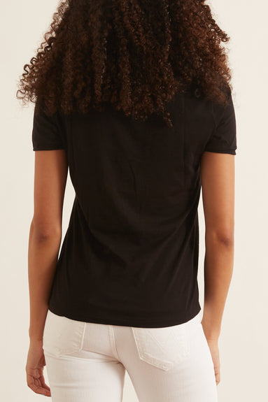 The Frequent Flyer Tee in Pure Black