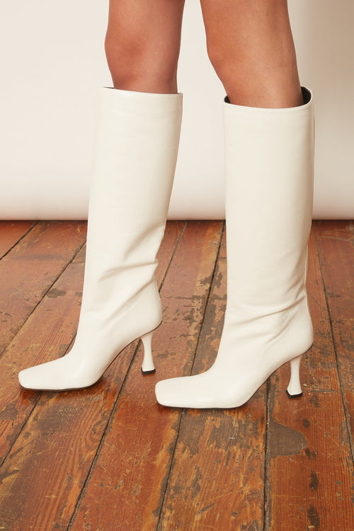 Sofia Tall Boot in Bone