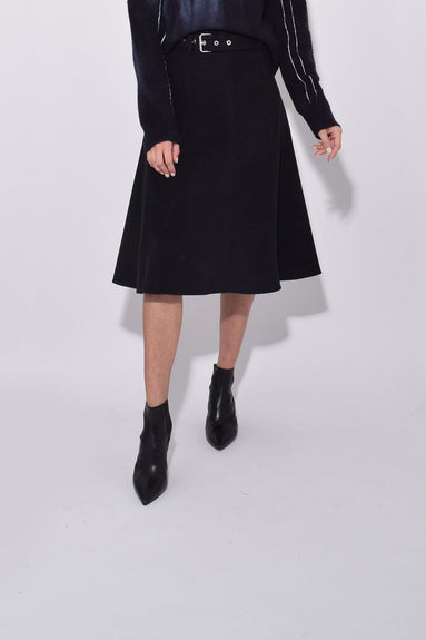 Cotton Moleskin Skirt in Black