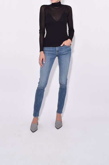 Long Sleeve Knit Turtleneck in Black