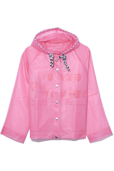 Printed Raincoat in Pink