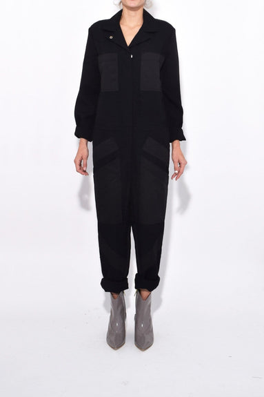 Seamed Jumpsuit in Black