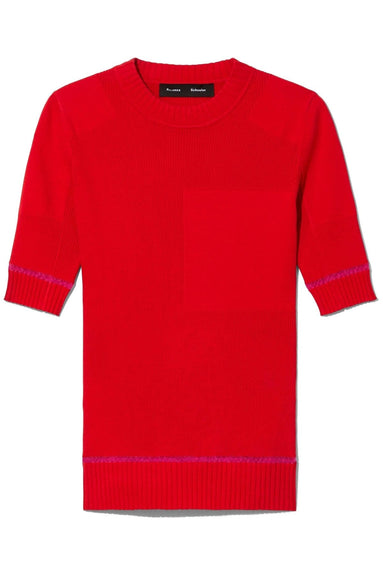 Short Sleeve Layering Crew in Red