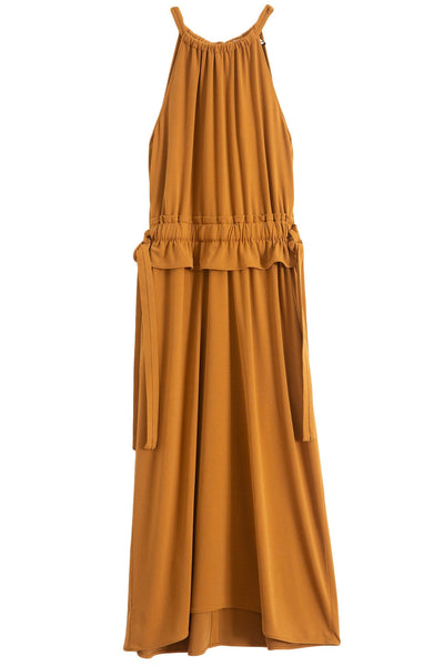 Sleeveless Cinched Dress in Tobacco