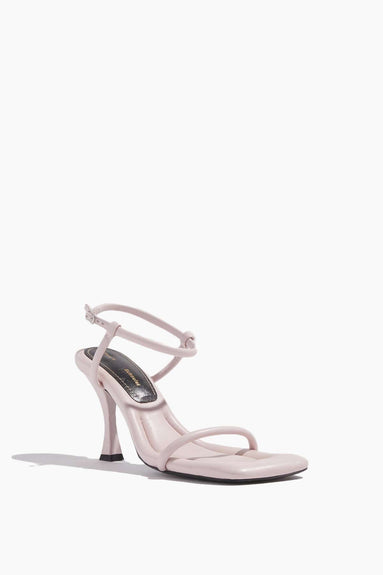 Square Padded Sandal in Light Pink