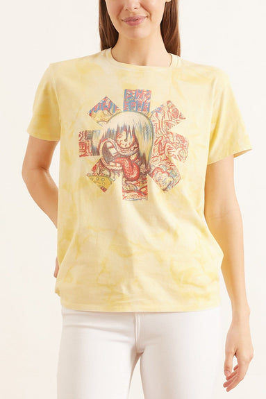 RHCP Tongue Asterisk Boy T in Washed Yellow