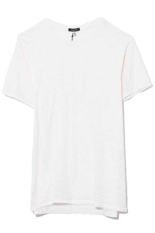Cotton Cashmere Boy T in Ecru