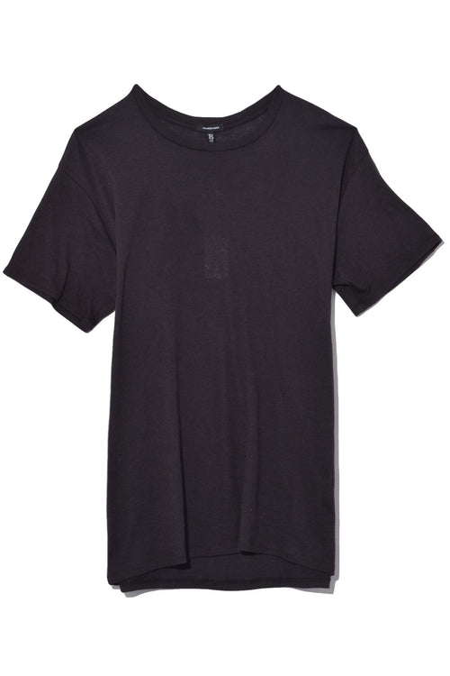 Cotton Cashmere Boy T in Washed Black