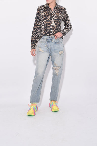 Cross Over Jean in Cheryl with Rips