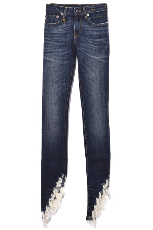 Kate Skinny Jean in Howell Indigo with Angled Fray Hem