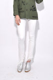Kate Skinny with Angled Hem in Garret White