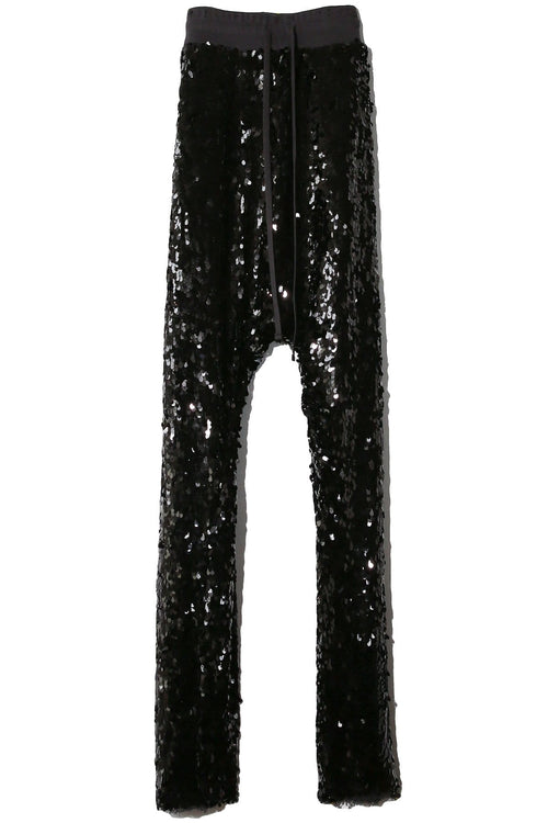 Sequin Field Sweatpants in Black Sequin