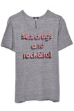 Sex and Rock Rosie T in Heather Grey